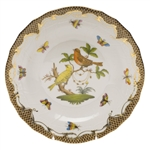 Herend Rothschild Bird Brown Dessert Plate Motif #6