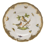 Herend Rothschild Bird Brown Dessert Plate Motif #8