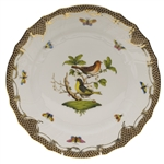 Herend Rothschild Bird Brown Dinner Plate Motif #3