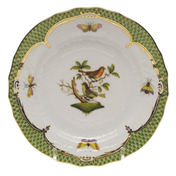 Herend Rothschild Bird Green Bread & Butter Plate Motif #3