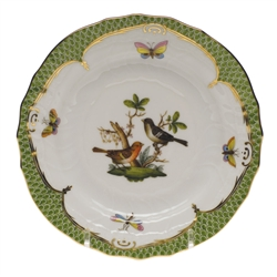 Herend Rothschild Bird Green Bread & Butter Plate Motif #5