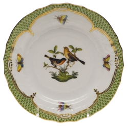 Herend Rothschild Bird Green Bread & Butter Plate Motif #9