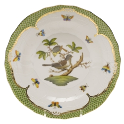 Herend Rothschild Bird Green Dessert Plate Motif #1