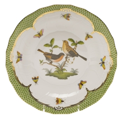 Herend Rothschild Bird Green Dessert Plate Motif #9