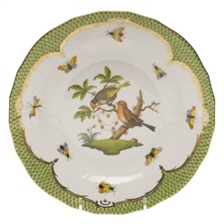 Herend Rothschild Bird Green Dessert Plate Motif #10