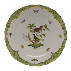 Herend Rothschild Bird Green Service Plate Motif #3