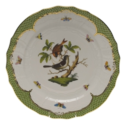 Herend Rothschild Bird Green Service Plate Motif #4
