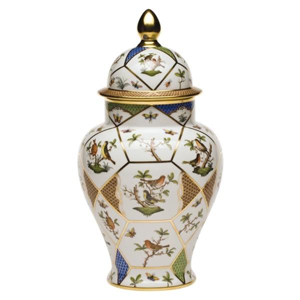 Herend Rothschild Bird Vase With Lid At Herendstore