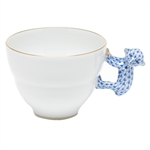 Herend Mug with Monkey Handle Blue Fishnet