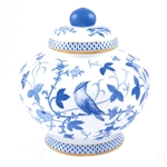 Herend Blue Peony Ginger Jar Reserve Collection
