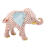 Herend Roaming Elephant Rust Fishnet