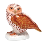 Herend Figurine Burrowing Owl Rust Fishnet