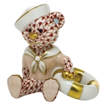 Herend Figurine Sailor Bear Rust Fishnet