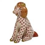 Herend Figurine Poodle Rust Fishnet