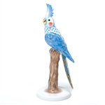 Herend Figurine Cockatiel Bird Blue Fishnet