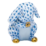 Herend Praying Bunny Figurine Blue Fishnet