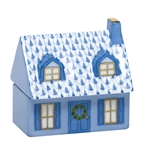 Herend Home Sweet Home Covered Box Blue Fishnet