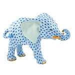 Herend Roaming Elephant Blue Fishnet