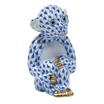 Herend Little Monkey Figurine Sapphire Fishnet