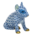 Herend Figurine English Bull Terrier Puppy Sapphire Fishnet