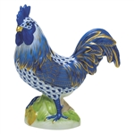 Herend Figurine Proud Rooster Sapphire Fishnet