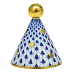 Herend Party Hat Figurine Sapphire Fishnet