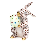 Herend Easter Bunny Figurine Chocolate Fishnet