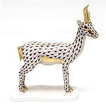 Herend Cuviers Gazelle Figurine Cocolate Fishnet
