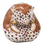 Herend Baby Hedgehog Figurine Chocolate Fishnet