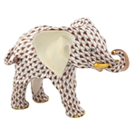 Herend Roaming Elephant Chocolate Fishnet