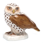 Herend Figurine Burrowing Owl Chocolate Fishnet