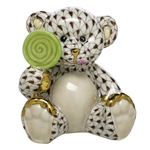 Herend Figurine Sweet Tooth Teddy Bear Chocolate Fishnet