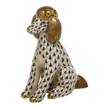 Herend Figurine Poodle Chocolate Fishnet