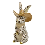 Herend Cowboy Bunny Rabbit Figurine Chocolate Fishnet