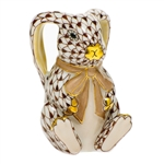 Herend Bunny Rabbit Ears Figurine Chocolate Fishnet