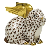 Herend Angel Bunny Rabbit Figurine Chocolate Fishnet
