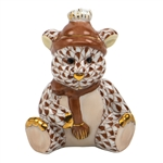 Herend Winter Bear Figurine Chocolate Fishnet