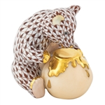 Herend Bear with Honey Pot Chocolate Fishnet