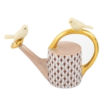 Herend Watering Can with Birds Figurine Chocolate Fishnet