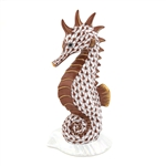 Herend Seahorse on Scallop Shell Chocolate Fishnet