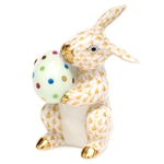 Herend Easter Bunny Figurine Butterscotch Fishnet