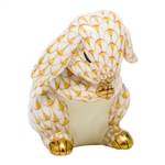 Herend Praying Bunny Figurine Butterscotch Fishnet
