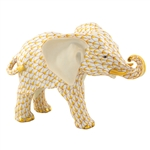 Herend Roaming Elephant Butterscotch Fishnet