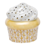 Herend Cupcake Butterscotch Fishnet