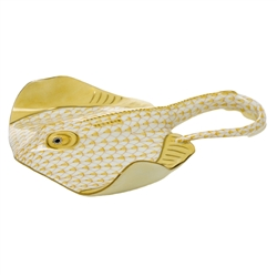 Herend Figurine Stingray Butterscotch Fishnet