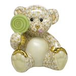 Herend Figurine Sweet Tooth Teddy Bear Butterscotch Fishnet
