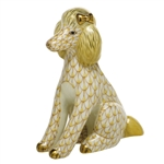 Herend Figurine Poodle Butterscotch Fishnet