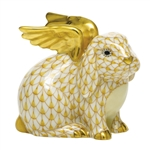 Herend Angel Bunny Rabbit Figurine Butterscotch Fishnet