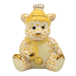 Herend Winter Bear Figurine Butterscotch Fishnet