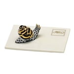 Herend Snail Mail Figurine Black Fishnet